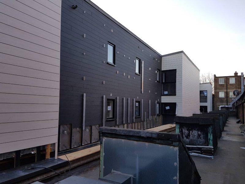 Trespa Panels and Metsec in Brixton