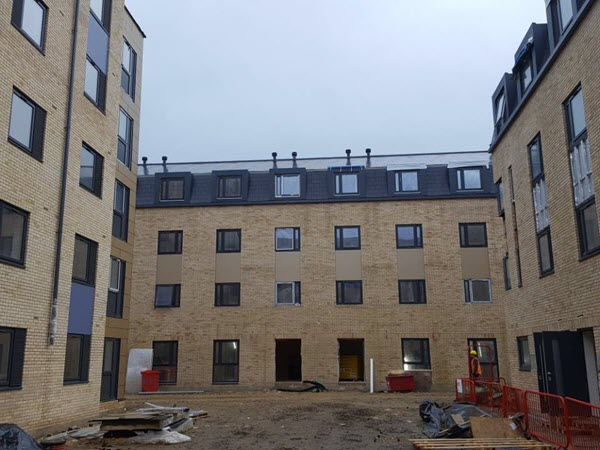 Trespa Panels - Student Accommodation in Northampton