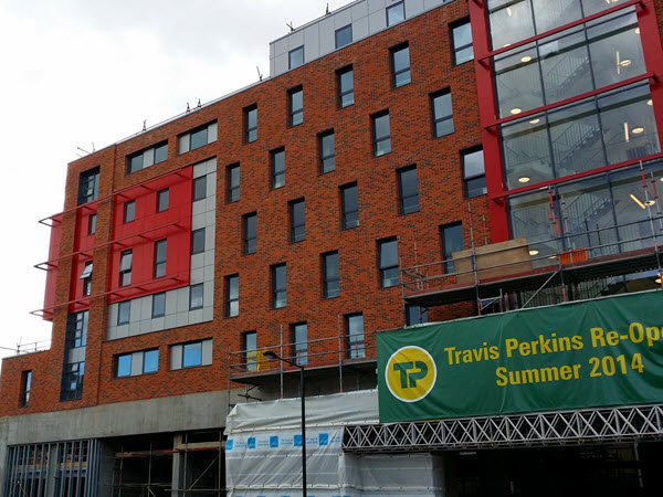 SFS and Complete Cladding at Trevis Perkins Shop, Camden